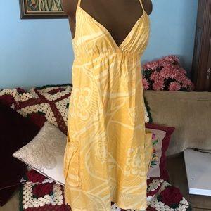 Roxy 100% cotton plaid tank dress adjustable strap